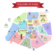 Detailed map of Paris attractions.