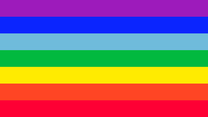 Amazing Rainbow flag vector.