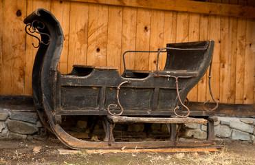 Antique black sleigh