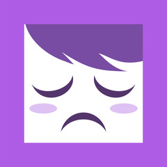 sad expression design