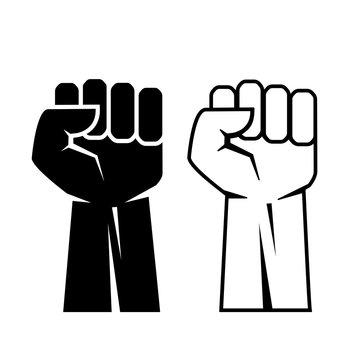 Fist vector icon set