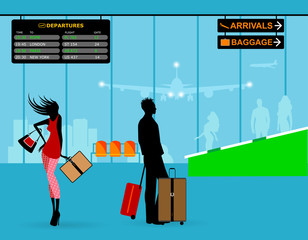 people at airport travel activities departure and arrival flight plane