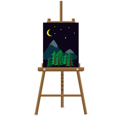 Easel with nature picture