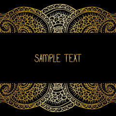 Ethnic tribal abstract background pattern frame in vector with place for your text for card, poster, web design.