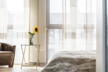 Sunflower in the bedroom