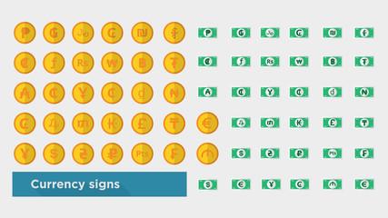 web icon set - money symbol, finance