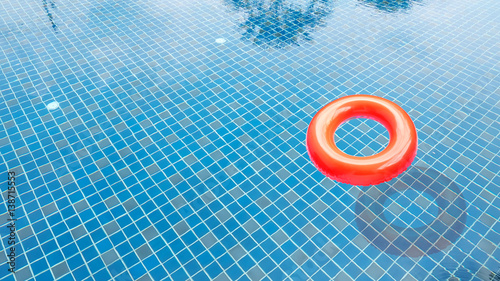 Red Swim Ring In The Swimming Pool Stock Photo And Royalty Free Images On Pic