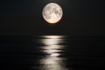 Full moon on sea