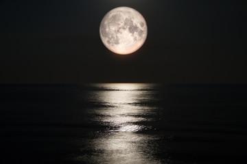 Full moon on sea