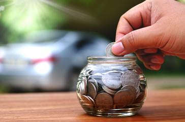 saving money for buy car concept