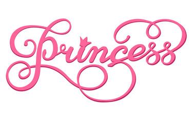 Handwritten inscription Princess