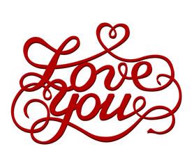 Inscription Love you