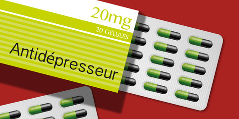 Médicament - Gélules - Antidépresseur - santé - médecine