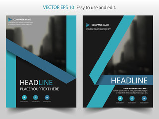 Blue black Vector Brochure annual report Leaflet Flyer template design, book cover layout design, abstract business presentation template, a4 size design