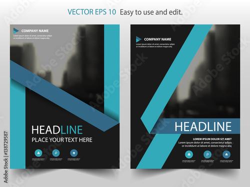 blue black vector brochure annual report leaflet flyer template