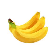 Low poly banana image.