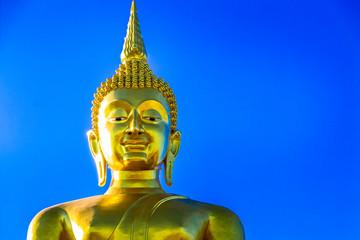 Golden large Buddha statue