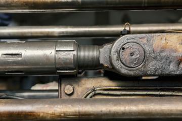 hydraulic pistons close up