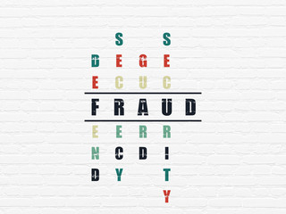 Privacy concept: Fraud in Crossword Puzzle