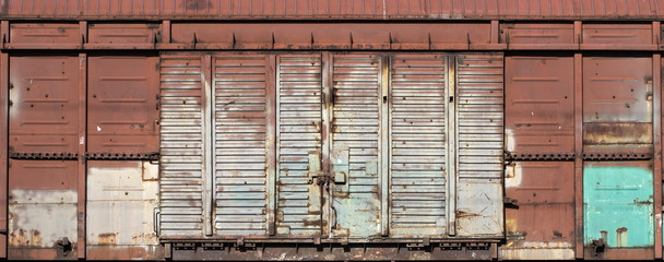 old metal warehouse door, hangar, high resolution photo