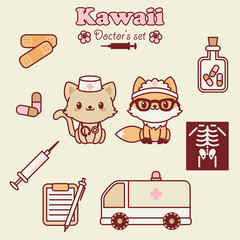 Kawai animals doctor's set