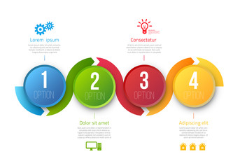Infographic vector template with 4 steps
