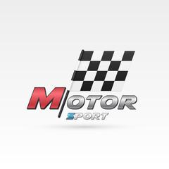 Motor sport emblem.