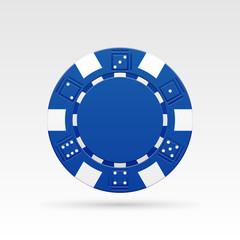Blue casino chips. Vector illustration