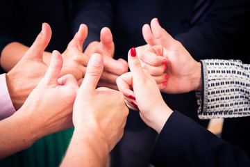 Groupf of People's Hands Together