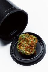 Close up of prescription medical marijuana bud