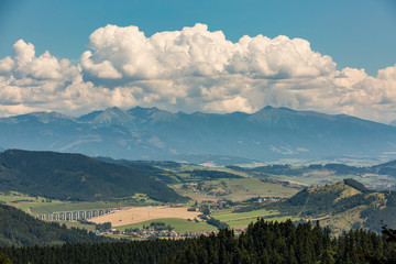 Mountain Lomnicky Stit in the High Tatras in Slovakia
