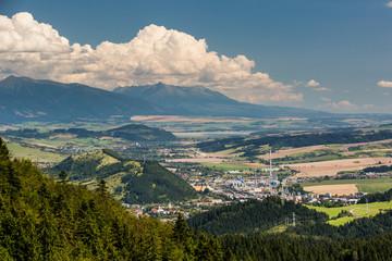 Tlsta Hora Mountain in the Cutkovska Dolina Valley near Ruzomberok in Slovakia