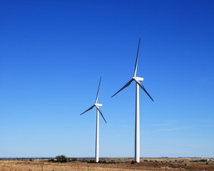 two electric windmills