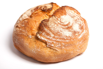 delicious fresh bread on a white background