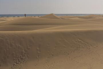 Gran Canaria dunes - Maspalomas sand desert landscape.