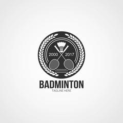 Badminton Logo Design Template