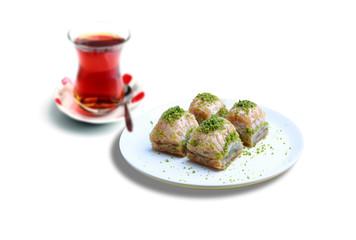 Turkish baklava and tea