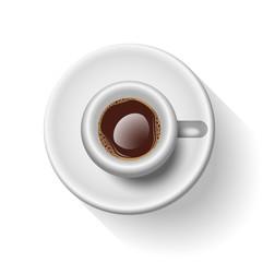 Semi-Realistic Vector Illustration Of an Italian Espresso