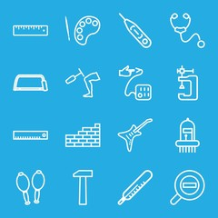 Set of 16 instrument outline icons