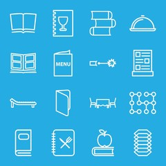 Set of 16 cover outline icons