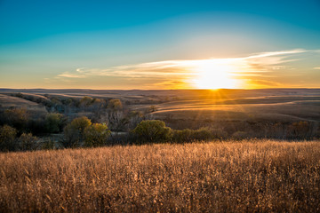 Sunset in the Flint Hills Kansas
