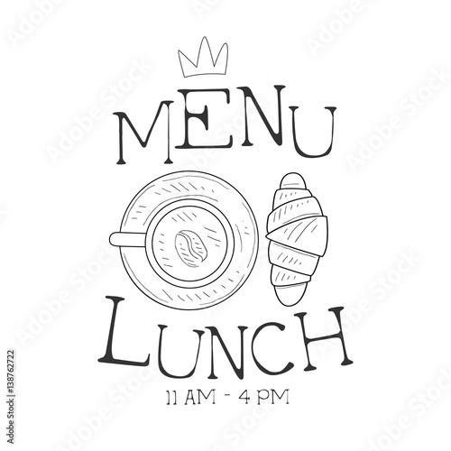 500_F_138762722_RlHdFRIcyvE7HitS1R2oALFPxE9of9lw cafe lunch menu promo sign in sketch style with croissant and on sandwich label template
