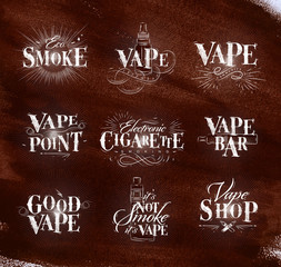 Poster start vape brown