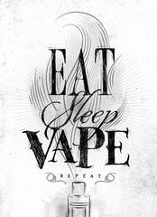 Poster eat sleep vape brown