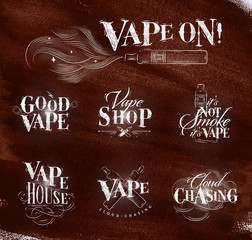 Vape symbols brown