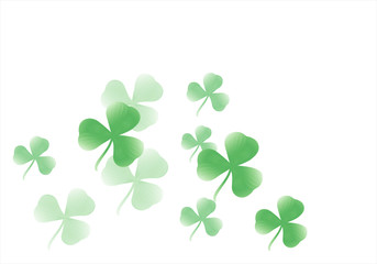 Shamrock flying, isolated on white background. Design for Saint Patrick day. Vector
