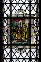 Bristol Cathedral Edward Colston Stained Glass Window close up I