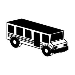 bus school isometric icon vector illustration design