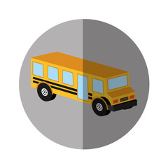 bus school isometric icon vector illustration design