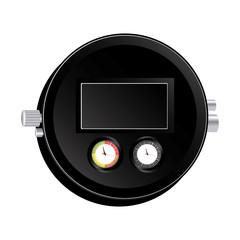 black car dashboard indicators icon, vector illustraction design image